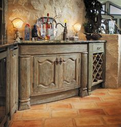 Handcrafted Kitchen Cabinets Custom built from reclaimed lumber and antique ele… – Oz Auge - Decoration Solid Wood Kitchens, Custom Kitchens, Rustic Kitchen Cabinets, Kitchen Bars, Built In Wine Cooler, Reclaimed Lumber, Kitchen Installation, Wine Storage, Eyes