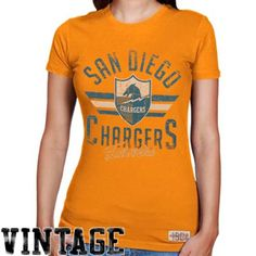 094495f97 Mitchell   Ness San Diego Chargers Ladies Vintage Graphic Premium T-Shirt -  Gold San