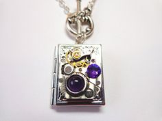 Steampunk Once Upon A Time Book Locket With by Treasurebay on Etsy, $38.00