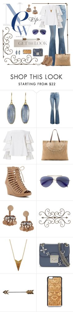 """👀Get the Look👀"" by polyvore-suzyq ❤ liked on Polyvore featuring Frame, Exclusive for Intermix, The Beach People, Top Moda, Alexander McQueen, Humble Chic, Theodora Warre, MICHAEL Michael Kors and Ganz"