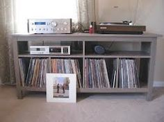 hemnes sofa table for records and player
