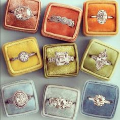 Vintage rings...love them. I went vintage w/ my wedding ring..and love it.