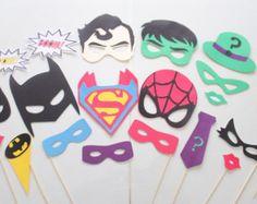 Superhero Birthday Photo Booth Props   Superhero Wonder Woman