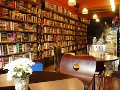 Cozy little book cafe