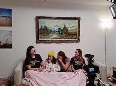 gaywomenchannel Did you watch Pillow Talk with Natasha & Elise playing Truth or Dare? Part 2 coming Monday!