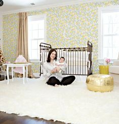 This classic gold crib is perfect in this sweet feminine baby room. Mom and baby approve! Interior Design Courses, Design Blogs, Best Interior Design, Design Ideas, Home Decor Websites, Home Decor Online, Cheap Home Decor, Home Decor Catalogs, Home Decor Shops