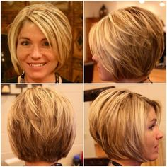 Here are 15 astonishing short bob haircuts for pretty women, from Short-Haircut: The long bob hairstyle is getting more and more popular among women including celebrities. Bob hairstyles are great…More Bob Haircuts For Women, Short Bob Haircuts, Long Bob Hairstyles, Stacked Bob Hairstyles, Hairstyles 2016, Haircuts For Fat Faces, Short Stacked Haircuts, Summer Haircuts, Wedge Hairstyles
