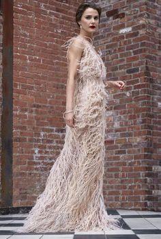 Keri Russell in a Oscar de la Renta dress and Tiffany & Co. earrings