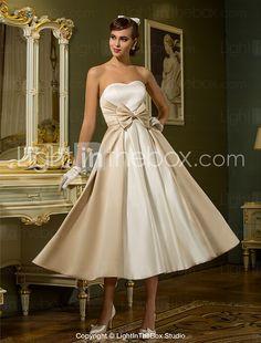 Lanting Bride® A-line / Princess Petite / Plus Sizes Wedding Dress - Chic & Modern / ReceptionWedding Dresses in Color / Little White 2016 - $89.99