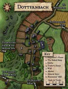 Warhammer Fantasy Roleplay resources and tools Fantasy City Map, Fantasy Town, Fantasy Castle, Dungeons And Dragons, Village Map, Rpg Map, Map Layout, Dungeon Maps, Pathfinder Rpg