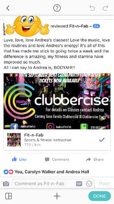 Review #clubbercise #fitnfab #clubbercisechelmsford #fun #feelgood #fitness #fitfam #Thisgirlcanessex #activeessex