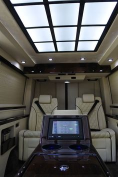 El Kapitan builds Luxury Executive conversion vans for business people with discriminating tastes on Mercedes Sprinter, Ford, Dodge, Chevy and GME van platforms. Cargo Van Conversion, Sprinter Van Conversion, Camper Conversion, Benz Sprinter, Mercedes Sprinter, Mercedes Benz, Best Cars For Teens, Luxury Van, Luxury Office