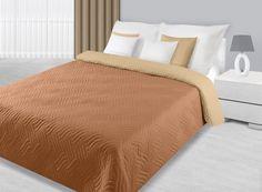 Béžovo krémový prešívaný prehoz na posteľ