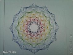 Painting mural drawing Izon Izon Rainbow 3 Cardboard Threads 1 photo