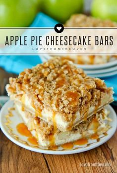 Apple Pie Cheesecake Bars - If you love apple pie and you love cheesecake, this recipe will knock your socks off!