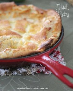 This German Pancake, more commonly know as a Dutch Baby, Takes just a few minutes to prepare and will melt in your mouth. Serve with fresh fruit, whipped cream or syrup! Breakfast at its easiest! Brunch Recipes, Baby Food Recipes, Dessert Recipes, Cooking Recipes, Desserts, Breakfast Items, Breakfast Dishes, Breakfast Recipes, Breakfast Muffins