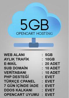 opencart 5gb hosting paketi http://www.opencartsablon.com/5gb-opencart-hosting.html