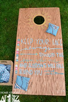 dyi corn hole board