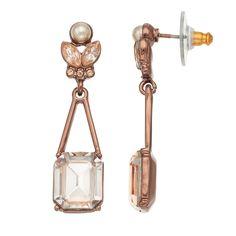 42f7b5e59 Simply Vera Vera Wang Nickel Free Simulated Crystal Drop Earrings Simply  Vera, Crystal Drop,