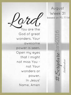 #ScriptureBank2016, Week 31