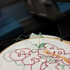 Stitching on the train. It's been a while... #mrxstitch #mrxoutnabout #handembroidery via The Mr X Stitch official Instagram  Share your stitchy 'grams with us - @mrxstitch #xstitchersofinstagram #mrxstitch