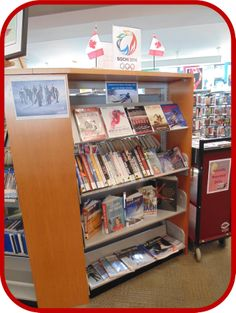 Supporting our Canadian Winter Olympics team with winter sporting acvities, Athlete biographies and Olympic themed books. ~AR