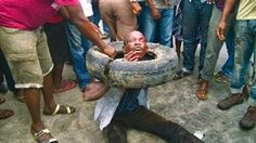 Marvelled Blog: Photo: Man Set Ablaze In Ghana For Trying To Rob A...