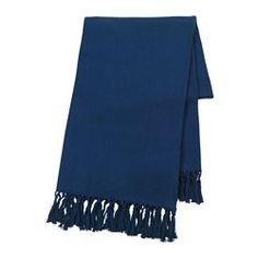 INNEHÅLLSRIK, Pläd, handgjord blå
