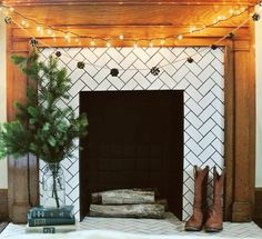 8 Cheap And Easy Useful Ideas: Craftsman Fireplace Floor Plans tv over fireplace distance.Fireplace Living Room Mounted Tv tv over fireplace old house. Subway Tile Fireplace, Herringbone Fireplace, Fireplace Tile Surround, Wooden Fireplace, Brick Fireplace Makeover, Victorian Fireplace, Farmhouse Fireplace, Fireplace Remodel, Faux Fireplace