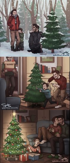 it might only be 25th November BUT that doesn't mean i can't draw christmas art xD!!! haha so here you go! some happy sterek family christmas fanarts ;U;! (i still need to figure it out how i'll put this on a mug and all of that so i can post it on Redbubble as well xD! soon! i promise)