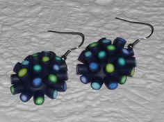 Ohrhänger - Ohrhänger oval blau-grün - ein Designerstück von iCo-Design bei DaWanda
