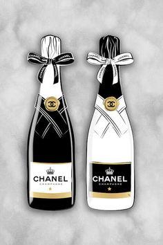 Chanel Bottles Canvas Art Print by Martina Pavlova | iCanvas
