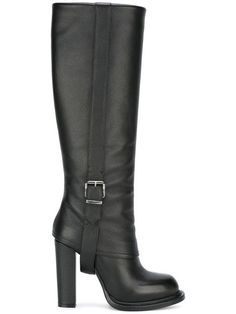 Shop Gianni Renzi buckled detailing boots.