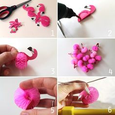 Now that's pretty: DIY - flamingo string lights