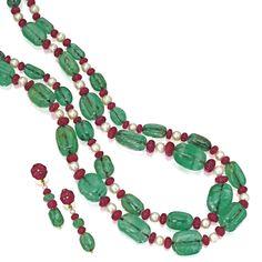jewellery | sotheby's n08573lot3ryq4en Bulgari Jewelry, Jewelry Design Earrings, Royal Jewelry, Emerald Jewelry, Necklace Designs, Custom Jewelry, Beaded Jewelry, Beaded Necklace, Jewellery
