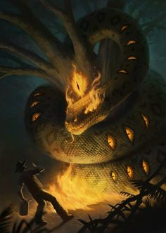 /r/Fantasy is the internet's largest discussion forum for the greater Speculative Fiction genre. Dark Fantasy Art, Fantasy Artwork, Snake Monster, Monster Art, Monster Concept Art, Creature Concept Art, Creature Design, Snake Art, Fantasy Beasts