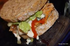 Buffalo Chicken Sandwich without frying... this is SO SO GOOD.... you will want to try it this week...