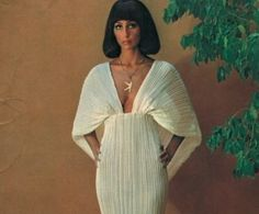 Cher circa 1970s with a very ancient Egypt inspired outfit on