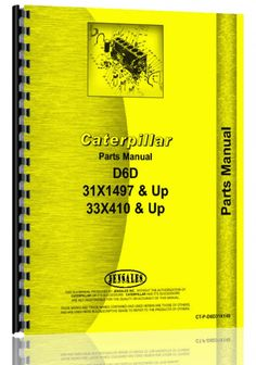 Caterpillar D6D Crawler Parts Manual