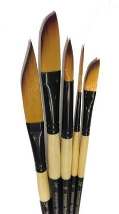 The Art Shop Skipton Artists Watercolour Brush Set , Sword Liner, Dagger, Rigger And Round Brushes Watercolor Leaves, Watercolor Brushes, Paint Brushes, Watercolour, Round Brush, Artist Brush, Swords And Daggers, Painted Leaves, Amazon Art