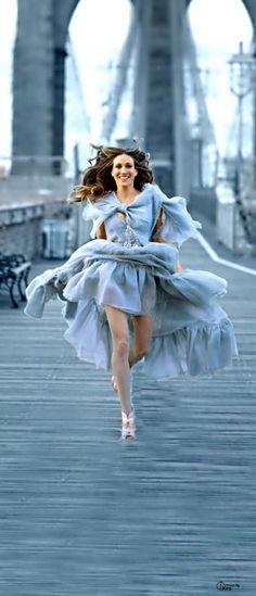 Sarah Jessica Parker de Chanel. Bello azul.