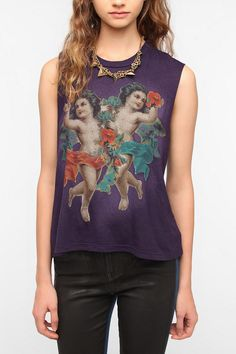 Truly Madly Deeply Cherub Muscle Tee Online Only