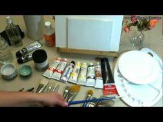 Curso de pintura1 - Qué materiales utilizar para pintar con acrílicos - YouTube