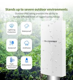 Outdoor Wireless WiFi Repeater Signal Amplifier WIFI Extender With Omnidirectional Antennas Wide-Area Mobile Phone Logo, Mobile Phone Shops, Wireless Wifi Router, Outdoor Antenna, Wifi Extender, Wifi Antenna, Phone Photography, Laptop, Bluetooth Gadgets