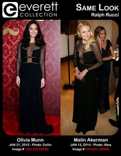 Stunning Ladies, Same Look: Olivia Munn and Malin Akerman in Ralph Rucci