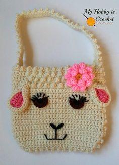 Darling Sheep Crochet Purse | AllFreeCrochet.com