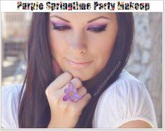 Purple Springtime Party Makeup