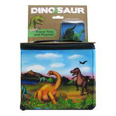 Neat-Oh! ZipBin Dinosaur Tote & 2 Dinosaur Set, Multicolor
