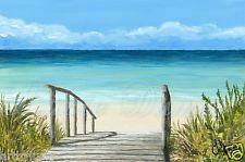 Art Print 4x6 Sea View 147 ocean beach from original painting by L.Dumas