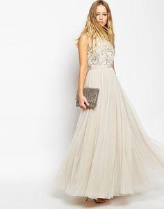 Enlarge Needle & Thread Embellished Mesh Lace Maxi Dress
